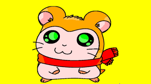 hamster wearing a scarf hamtaro cartoon coloring pages youtube