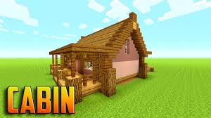 how to build a cabin house minecraft how to build a wooden cabin tutorial youtube