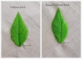 Fish Bone Stitch Embroidery Tutorials Royce S Hub Embroidery Stitches For Leaves Fishbone Stitch And