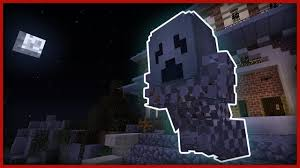 minecraft how to make a halloween ghost youtube