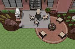 Simple Brick Patio With Circle Paver Kit Patio Designs And Ideas by Pre Priced Patio Designs Cincinnati Schneider U0027s Landscaping