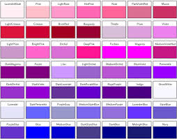 different colors of purple shades of purple names 11631