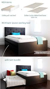 queen size bed with twin trundle ikea hackers