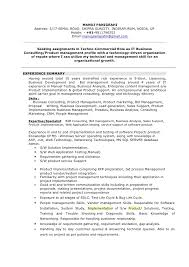 Resume Requirements Manoj Resume Business Consulting