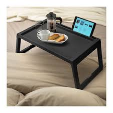 ikea klipsk breakfast food serving serve bed tray table in black w