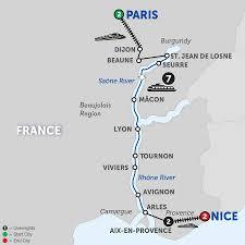 Burgundy France Map by Burgundy U0026 Provence Wine River Cruise Avalon Waterways