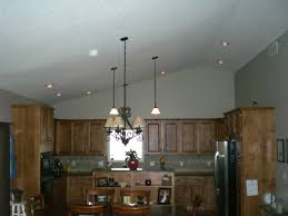 recessed lighting cathedral ceiling with bedroom kitchen vaulted