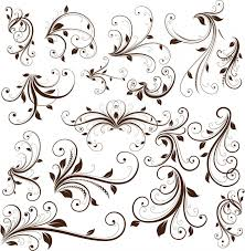 swirl floral decorative element vector graphic free graphics by