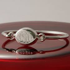 Monogram Bracelet Sterling Silver Oval Bangle Monogram Bracelet Sterling Silver Timeless Charms