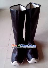 buy boots china handmade traditional black feather boots