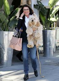 linda vanserpump hair lisa vanderpump carries her pered pooch as they stop by villa