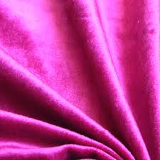 pink fuchsia cotton velvet upholstery weight fabric commercial