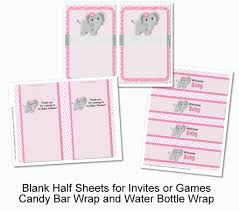 pdf elephant baby shower or birthday decorations printable