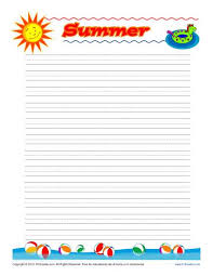 summer printable lined writing paper