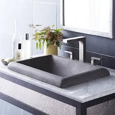 Drop In Sink Bathroom Native Trails Montecito Stone Rectangular Drop In Bathroom Sink