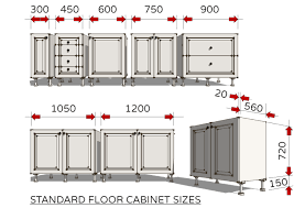 what is minimum base cabinet width standard dimensions for australian kitchens illustrated