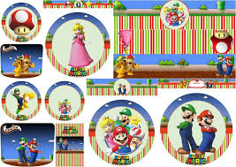 super mario bros party free printables candy bar labels