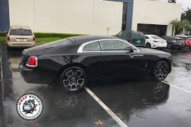 matte gray rolls royce rolls royce wraith top half wrapped in satin black wrap bullys