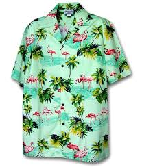 pacific legend s flamingos hawaiian shirt at s