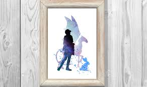 harry potter print luna lovegood watercolor poster giclee