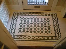 Victorian Mosaic Floor Tiles Entrance Mosaic Céramiques Hugo Sanchez Inc