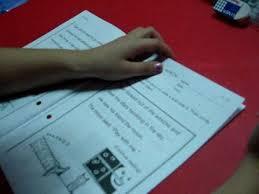 emily doing kumon english worksheets youtube