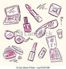 eps vectors of makeup set sketch drawing makeup sketch set eps8