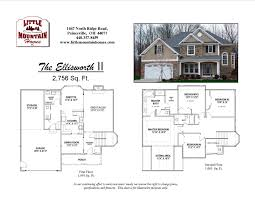 Square Feet Of 3 Car Garage by Ellisworth Ii Colonial Little Mountain Homes