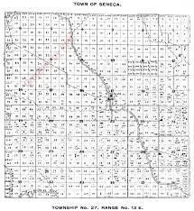 Colorado County Maps by 1898 Seneca Township Shawano County Plat Map Township No 27