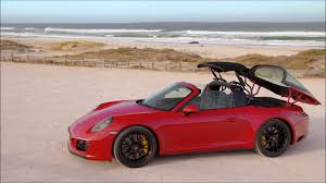 red porsche convertible video overview 2018 porsche 911 targa 4 gts carmine red