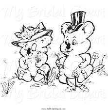 wedding wishes clipart bridal clipart of a black and white koala wedding