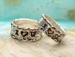 custom silver engagement rings or wedding bands handmade