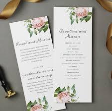 flat wedding programs printable wedding program template instant vintage