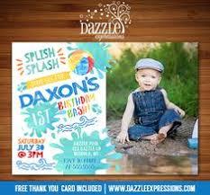 printable pool party chalkboard birthday invitation water park