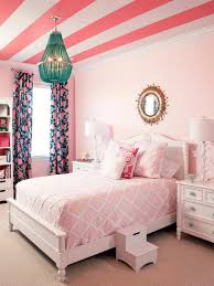pink and orange bedroom decor white wooden laminate wall shelves