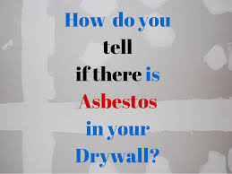 is there asbestos in drywall or gypsum board plasterboard