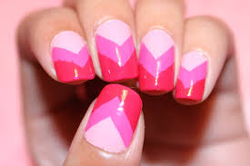pink ombre chevron nails dee2102 youtube