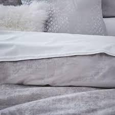 washed cotton lustre velvet duvet cover pillowcases platinum