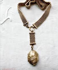 antique necklace chain images Estate antique victorian watch chain bird locket necklace jpg