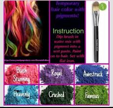 younique mineral pigments temporary hair color chalk hair