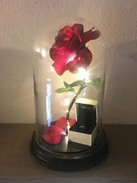beauty and the beast light up rose enchanted rose flower l beauty and the beast enchanted
