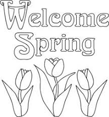 happy spring coloring print kids coloring