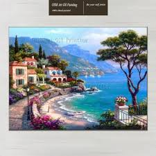 2017 mediterranean oil painting on canvas for home decor