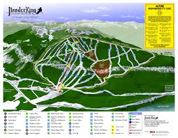 Northern Lights Map Trail Map Powder King