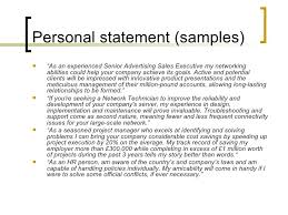 exles of profile statements for resumes personal statement exles for resume exles of resumes