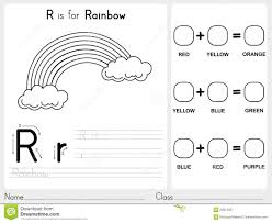 coloring book rainbow sky stock vector image 53334149