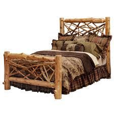 Wood Log Bed Frame Rustic Bedroom Furniture Log Beds And Hickory Beds Black Forest