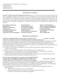 Construction Project Manager Resume Samples by Construction Superintendent Resume Examples And Samples