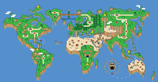 Map Of Thw World by Map Of The World Mario Styled Gaming