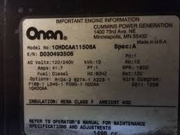 onan 10k diesel cranks but will not start help irv2 forums
